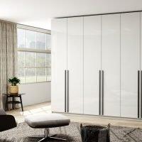 Glass cool grey wardrobe