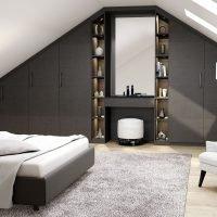 Urban Grey loft bedroom