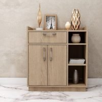 Small cabinet in sand orleans oak finish