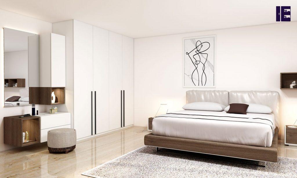 Alpine white bedroom unit