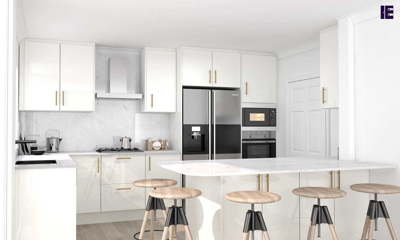 White Fitted Kitchen Set