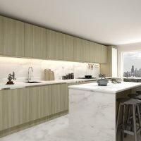 Handleless kitchen with granite worktop