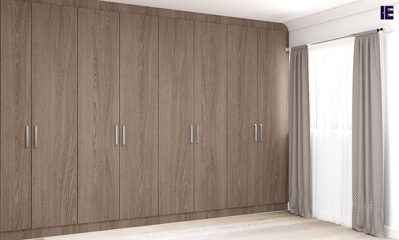 Fitted Wooden Wardrobe in Brown Orlean Oak