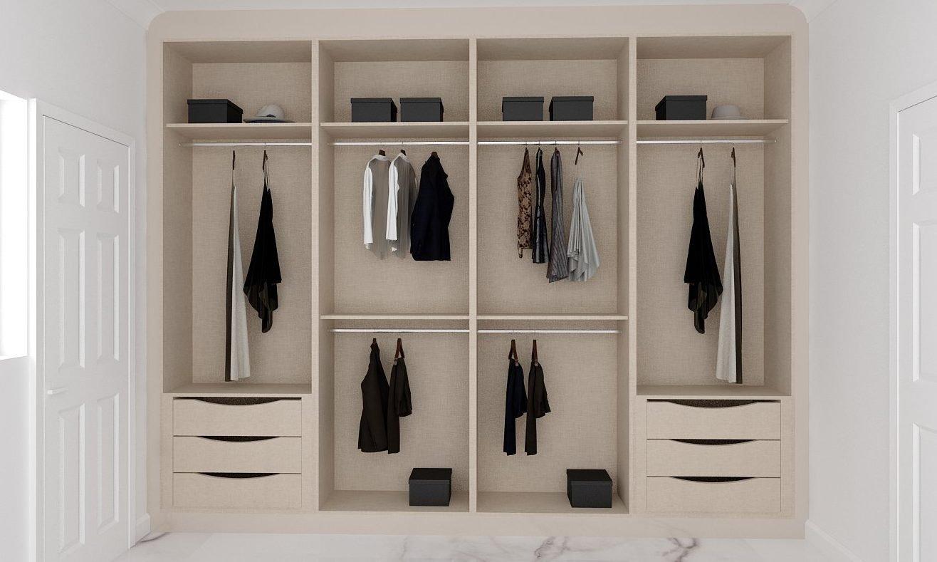 Internal Fitted Wardrobe Storage Cashmere Beige Linen